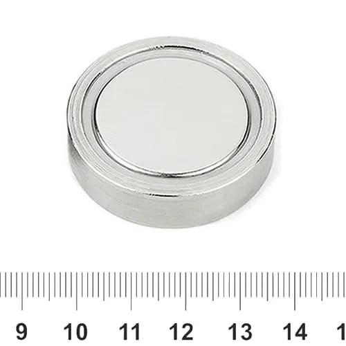 Flat NdFeB Round Base Magnet 38 X 7.4mm