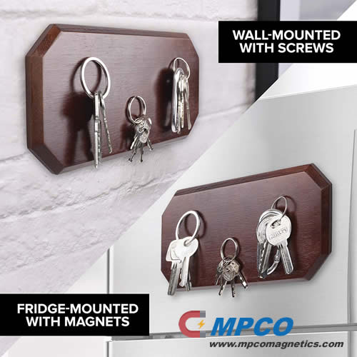 Magnetic Key Holder for Wall or Fridge