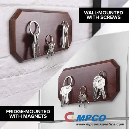 Magnetic Key Holder for Wall or Fridge