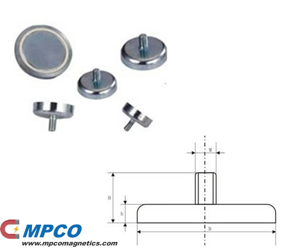 NC Series holding pot magnet with bolt