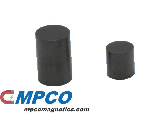 cylindrical ferrite magnet samples