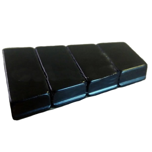 Black Epoxy Coated Laminated Magnet Assembly