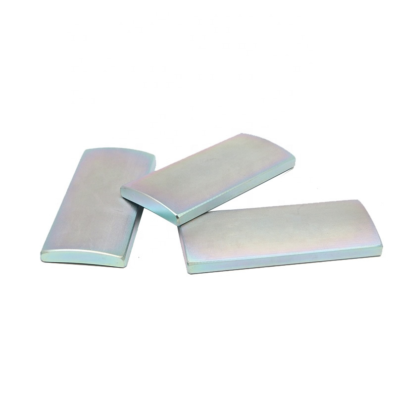 N42SH Color Zinc Plated Arc NdFeB Magnets for Electric Motor