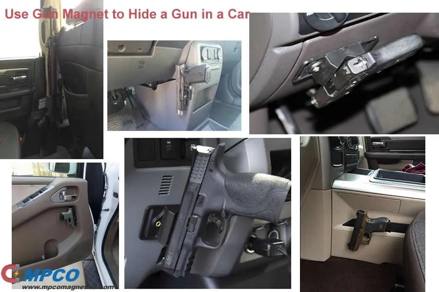 12 Ways of Use Gun Magnet to Hide a Gun in a Car