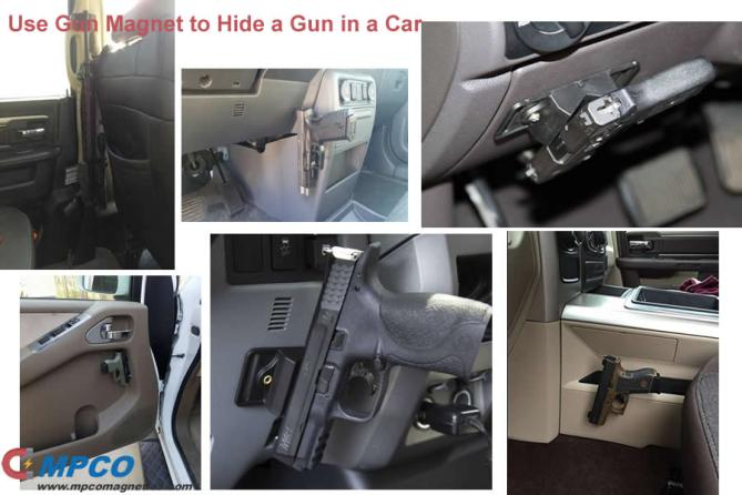 12 Ways of Use Gun Magnet to Hide a Gun in a Car