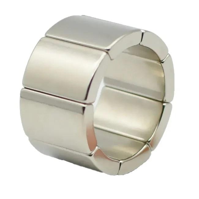 N42H Strong Generator Permanent Magnets for Flange Hoist Motor