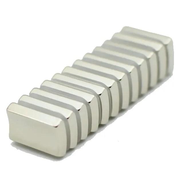 Segment NdFeB Magnets for AC and DC Flange Hoist Motors
