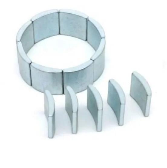 Segment Rare Earth Magnet for AC Dry Hydraulic Motor