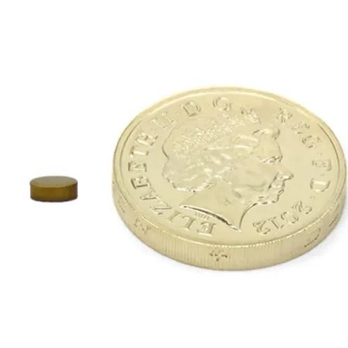Thin Titanium Nitride TiN Bio-Plating Neodymium Disc Magnet for FDA Medical