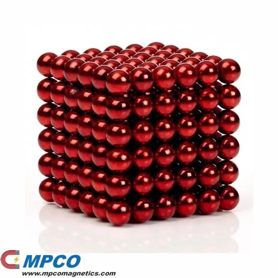 5mm magnetic balls 216pcs red buckyballs