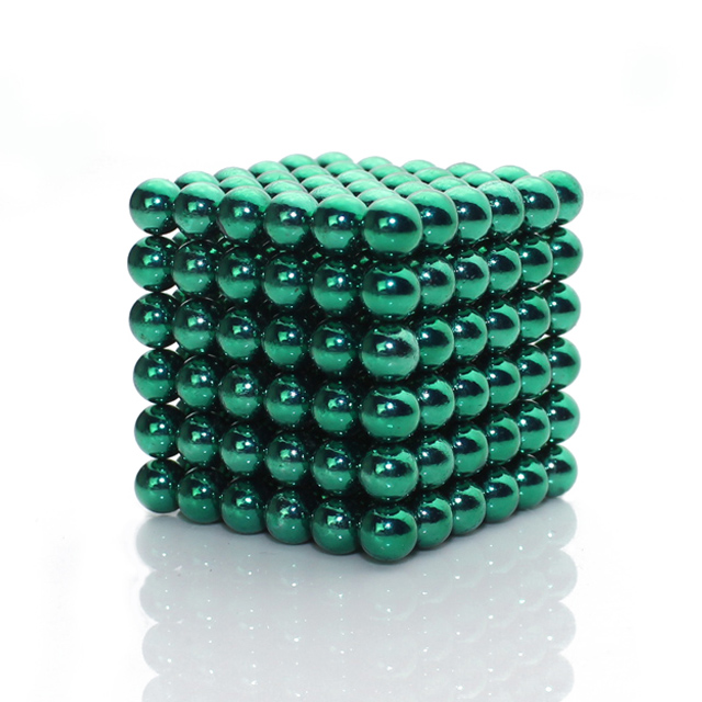 Green 5mm Buckyballs 216 Magnetic Balls Toys Neo Cube