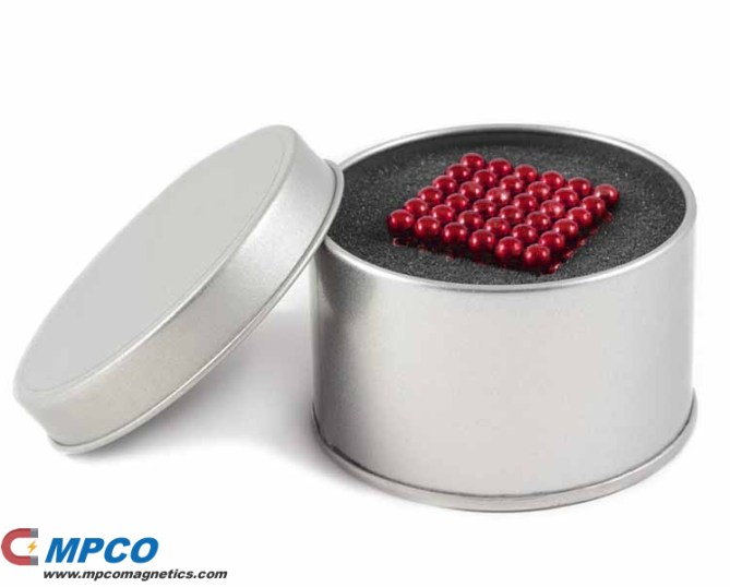 Neocube Red 5mm Magnetic Sphere Cubes