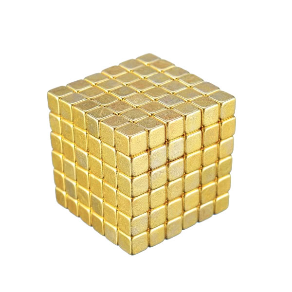 216pcs 5mm Golden Magnetic Building Block Creative Magnet Imanes