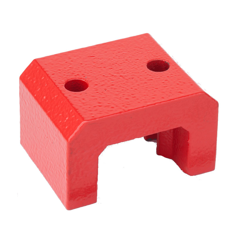 Red Painted Alnico Bridge Magnets 2.250 W x 1.375 H