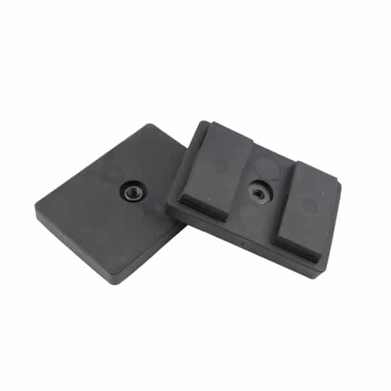 Rubber Coated Rectangular Magnet W 2 Magnetic Blocks Thread Hole