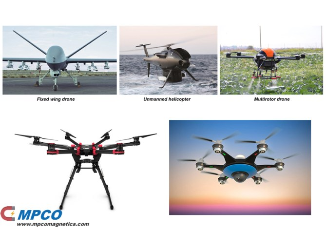 Drones be made by MPCO supplies strong magnets