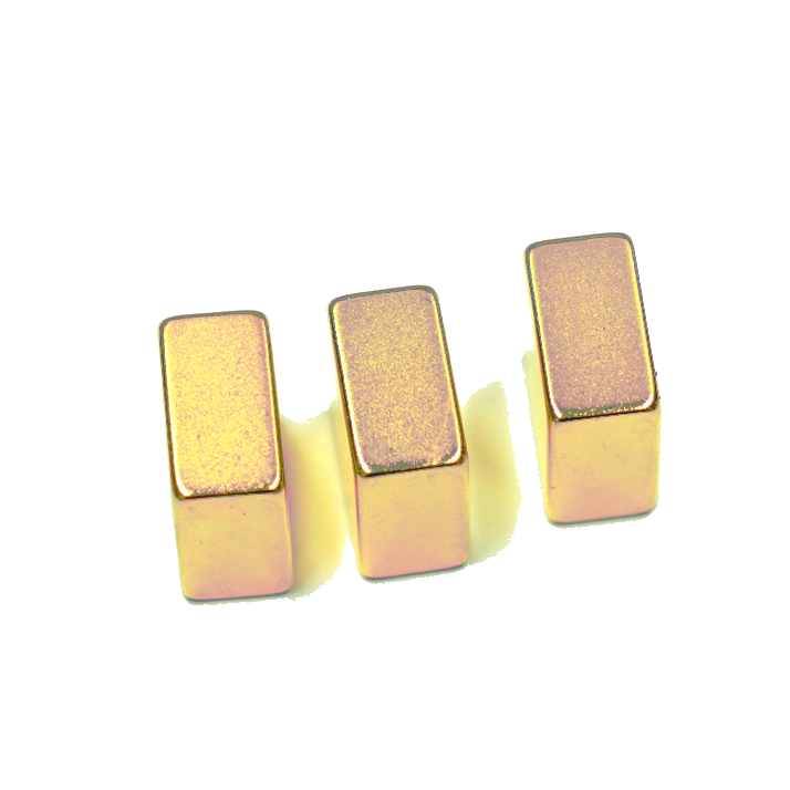 Industrial Application N52 NdFeB Titanium Nitride Coated Magnet
