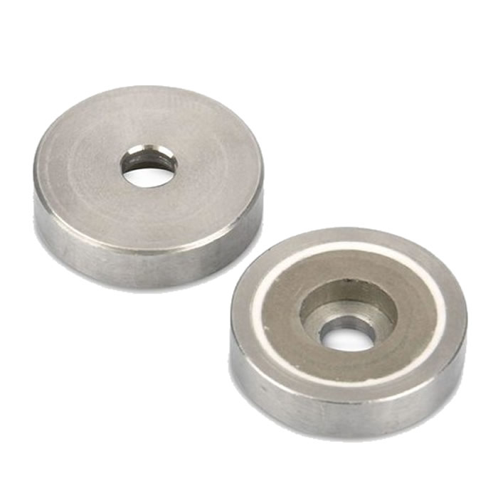 SmCo Pot Magnet Flat with Cylinder Bore Hole