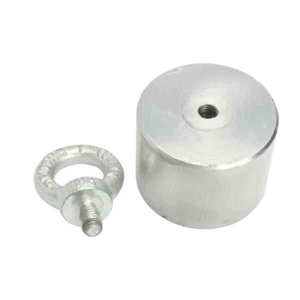 Sea River Fishing Cylindrical Pot Neodymium Magnet with Eyebolt