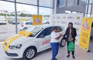 MTN Pulse customer winner Olwethu Mthengwane from Thembalethu in George, Western Cape
