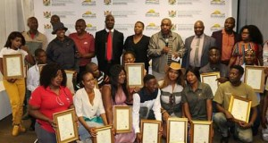 Mpumalanga youths receive farming certificates from Agricultural Sector Education Training Authority (AGRI-SETA) accredited qualification. Photo by Anna Ntabane, Mpumalanga Guardian