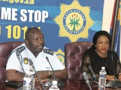 On the left is Mpumalanga provincial Member of the Executive Committee (MEC) for Community Safety, Security and Liaison Gabisile Tshabalala with provincial SAPS Commissioner, Lt Gen Mondli Zuma. Photo by Anna Ntabane, Mpumalanga Guardian