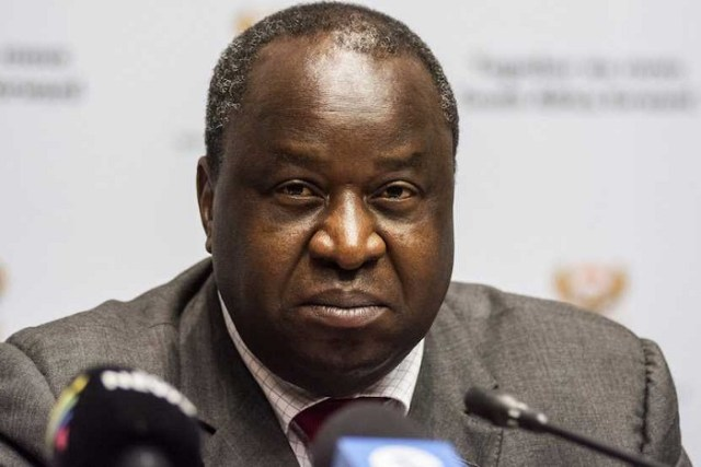 South Africa's finance minister, Tito Mboweni
