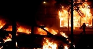 Violent US protests, photo by Lucas Jackson, Reuters