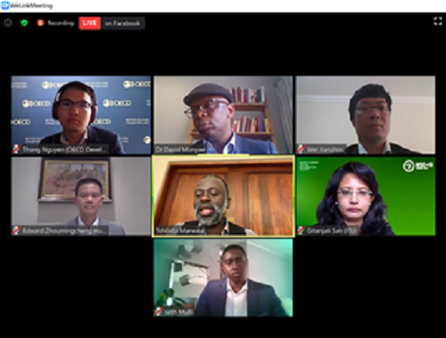 Panellists attending the UJ Gearing Africa for the 4th Industrial Revolution Webinar
