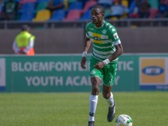 Bloemfontein Celtic left back and Zimbabwe Warriors, Ronald Pfumbidzai. Photo by Frikkie Kapp/BackpagePix