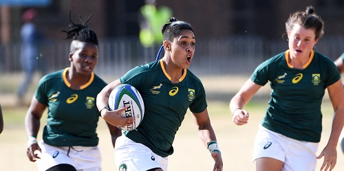 Springbok women players. Photo by Lee Warren/Gallo Images