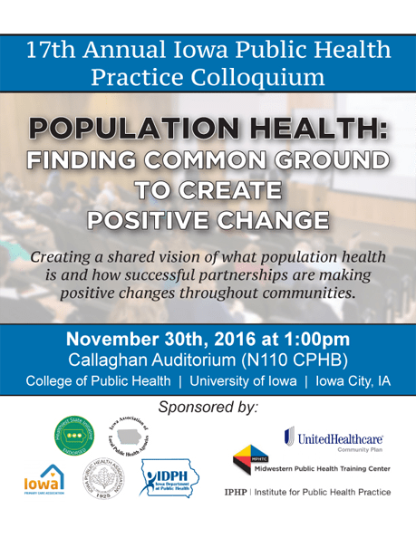 2016 Fall Colloquium Save the Date - November 30th - Registration Coming Soon