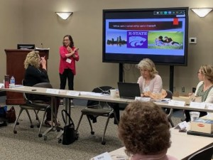 Presenting this project to the Immunize Kansas Coalition meeting, April 12,2019