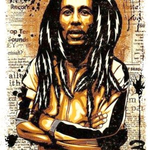 Bob Marley Illustration Print
