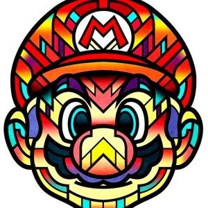 Super Mario Prisma Coloful Print