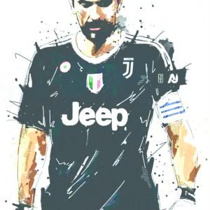 Gianluigi Buffon Juventus Splash Art