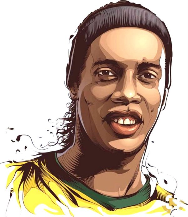 Ronaldinho Illustration Print