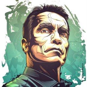 Arnold Schwarzenegger Illustration Print