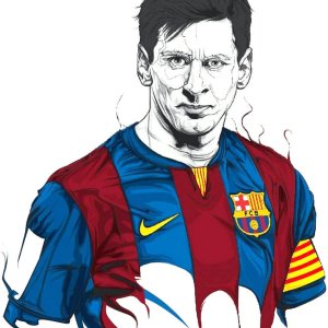 Lionel Messi Pencil Art Print