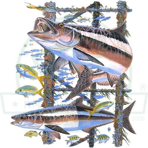 Ψάρεμα Στάμπα Μπλουζάκια