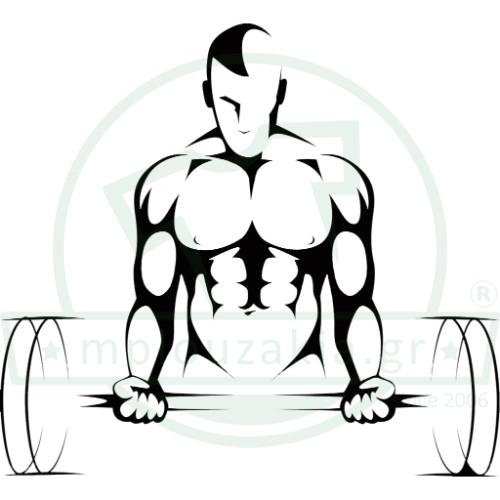 4b503d6cf997 Weightlifting Bodybuilding Στάμπα Μπλουζάκι • mplouzakia.gr ...