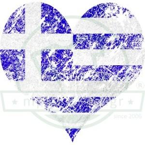 Σημαία Ελλάδος Καρδιά Greece