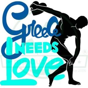 Greece Needs Lover Print