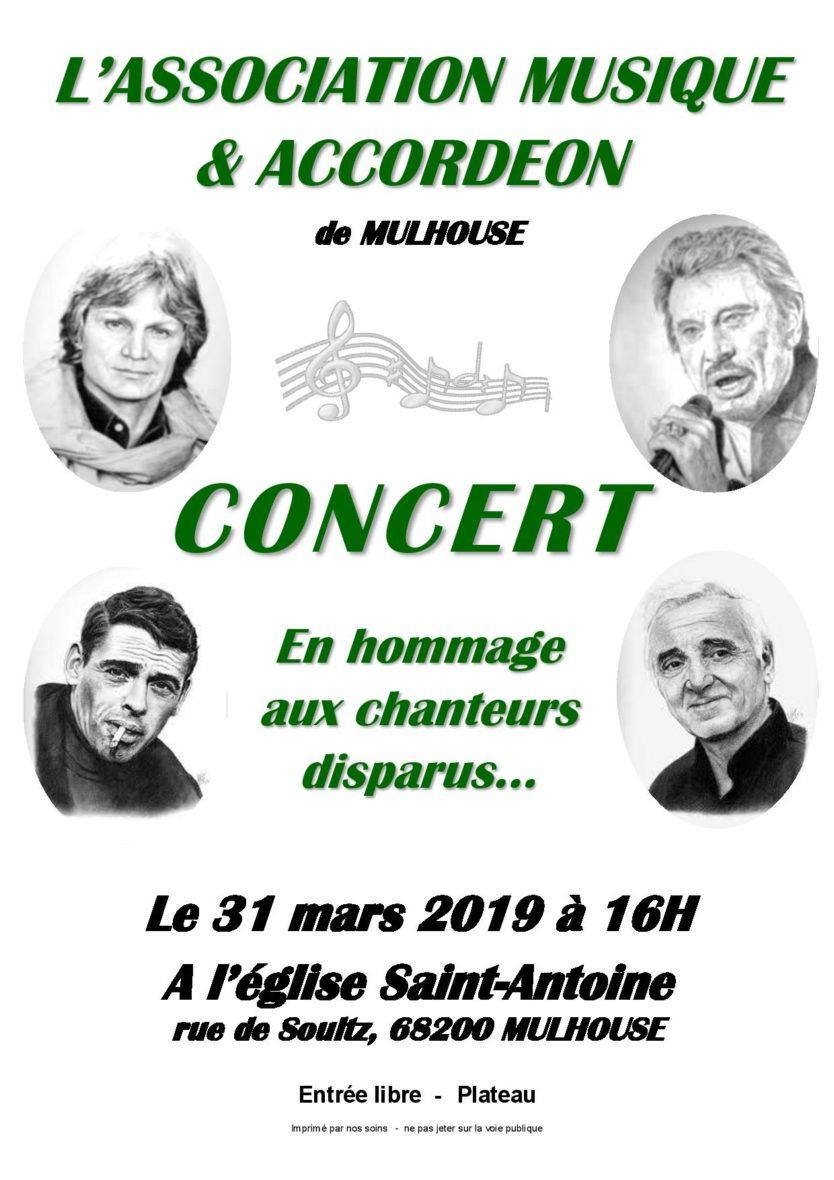 L'Accordéon rend hommage aux auteurs et aux chanteurs disparus