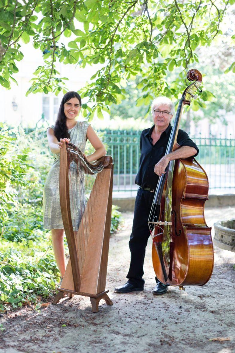 Duo Funambule : harpe et contrebasse