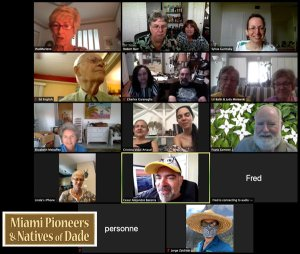 Miami Pioneers and Natives of Dade Zoom online meeting
