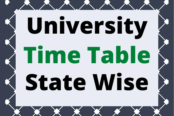 University Time Table