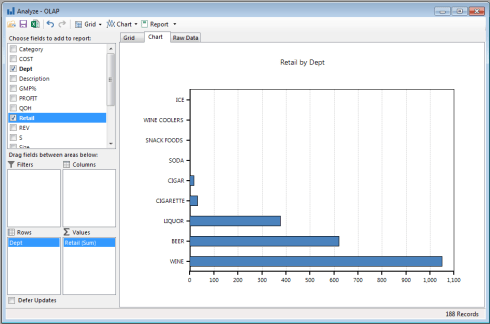 Liquor store software - Analyze Screenshot