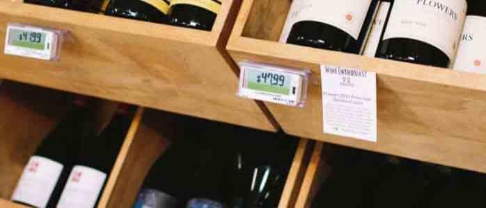 electronic shelf tag liquor pos
