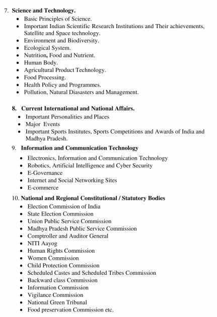 Latest MPPSC Prelims 2020 Syllabus 3